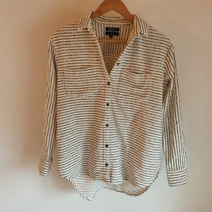 Madewell Oversized Striped Flannel